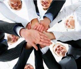 Equipo de empresa y estrategia.